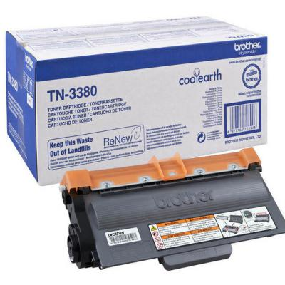 Genuine Brother TN-3380 Black High Capacity Toner Cartridge (TN3380BKHOEM)