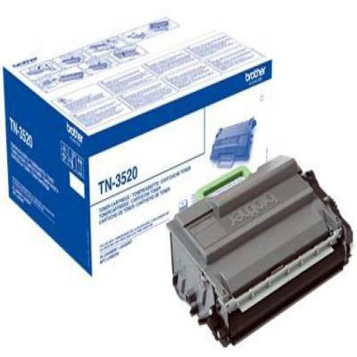 Genuine Brother TN-3520 Black Ultra Capacity Toner Cartridge (TN3520BKOEM)