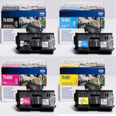 Genuine Brother TN-900 BK/C/M/Y Multi Pack Toner Cartridge (TN900BKCMYMULTIOEM)