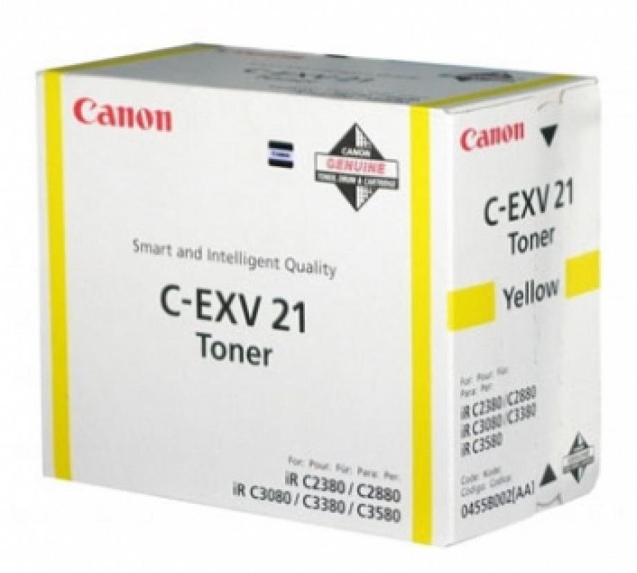 Genuine Canon C-EXV21Y Yellow Toner Cartridge (0455B002AA)