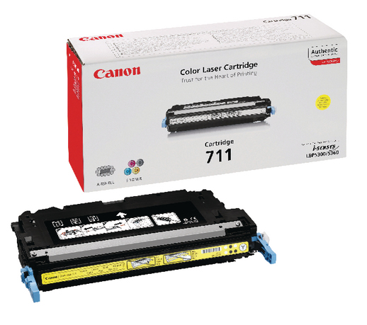Genuine Canon 711 Yellow Toner Cartridge (711YOEM)