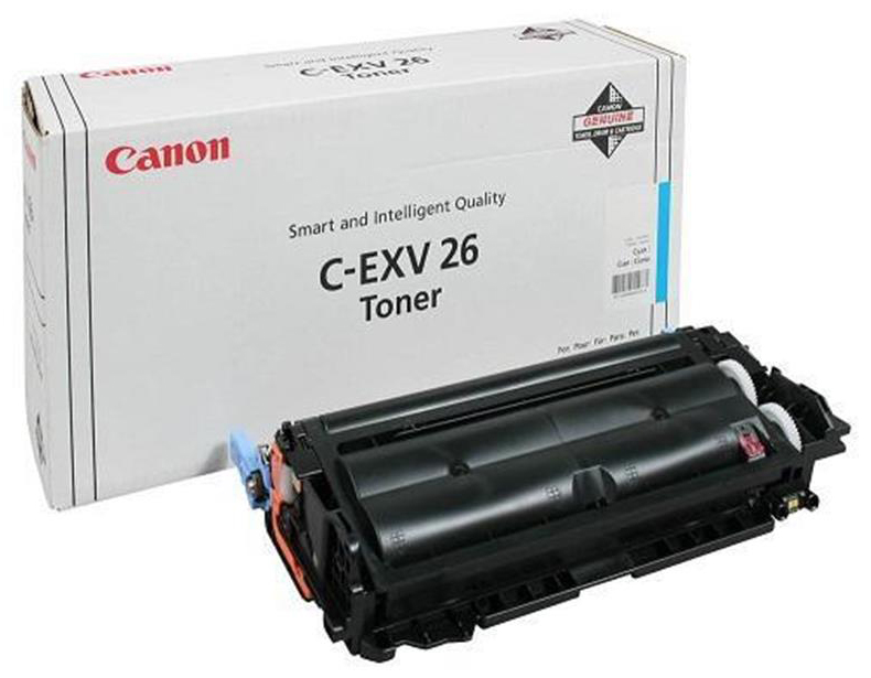 Genuine Canon C-EXV26 Cyan Toner Cartridge (CEXV26COEM)