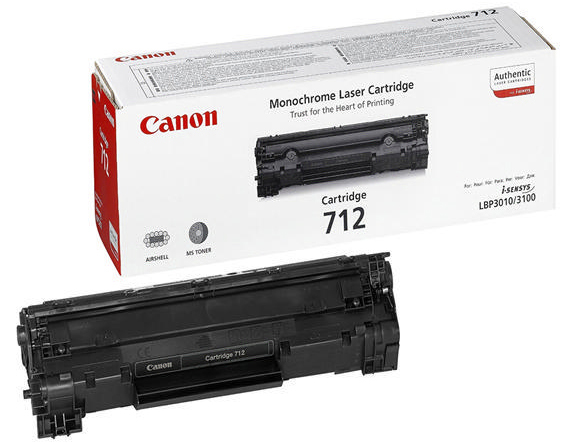 Genuine Canon 712 Black Toner Cartridge (1870B002AA)