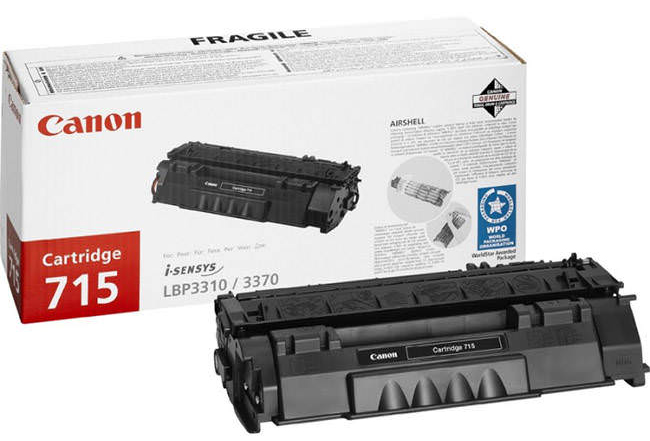 Genuine Canon 715 Black Toner Cartridge (1975B002AA)