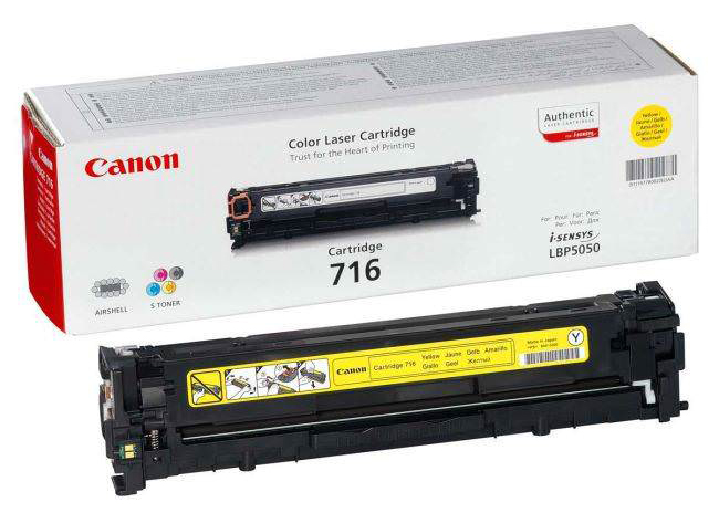 Genuine Canon 716Y Yellow Toner Cartridge (716YOEM)