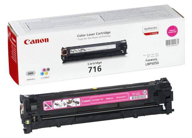 Genuine Canon 716M Magenta Toner Cartridge (716MOEM)