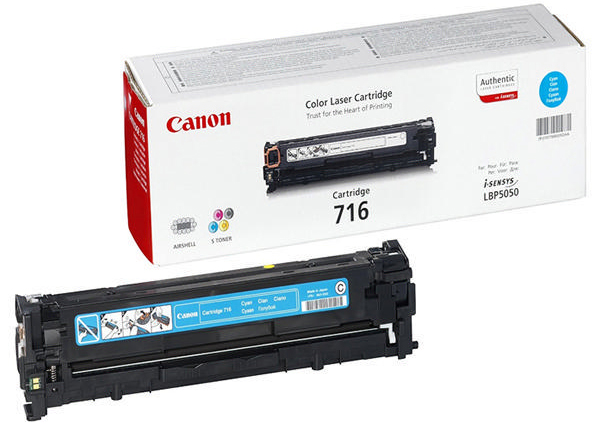 Genuine Canon 716C Cyan Toner Cartridge (716COEM)