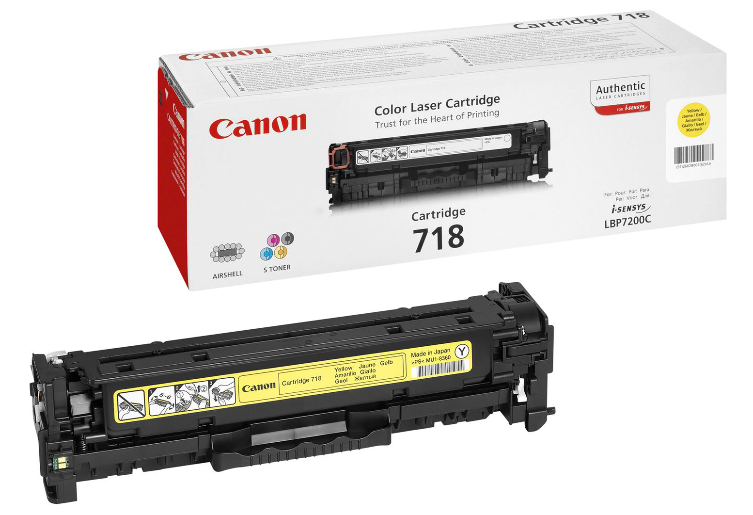 Genuine Canon 718Y Yellow Toner Cartridge (2659B002AA)