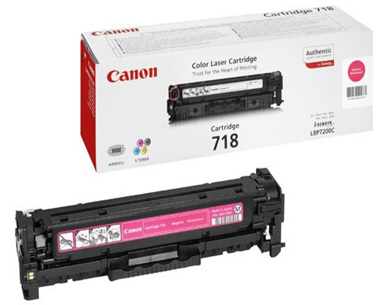 Genuine Canon 718M Magenta Toner Cartridge (718MOEM)