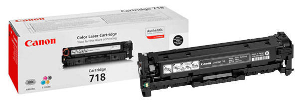 Genuine Canon 718BK Black Twin Pack Toner Cartridge (2662B005)