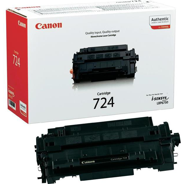 Genuine Canon 724 Black Toner Cartridge (3481B002AA)