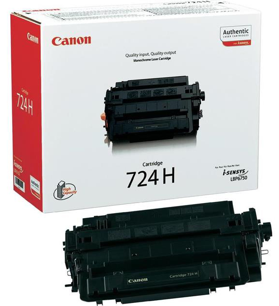 Genuine Canon 724BK Black High Capacity Toner Cartridge (3482B002AA)