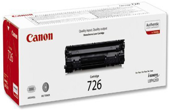 Genuine Canon 726 Black Toner Cartridge (3483B002AA)