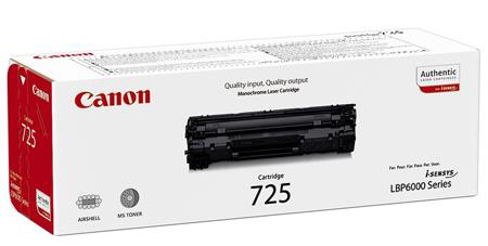 Genuine Canon 725 Black Toner Cartridge (3484B002AA)