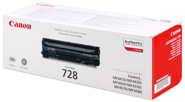 Genuine Canon 728 Black Toner Cartridge (3500B002AA)