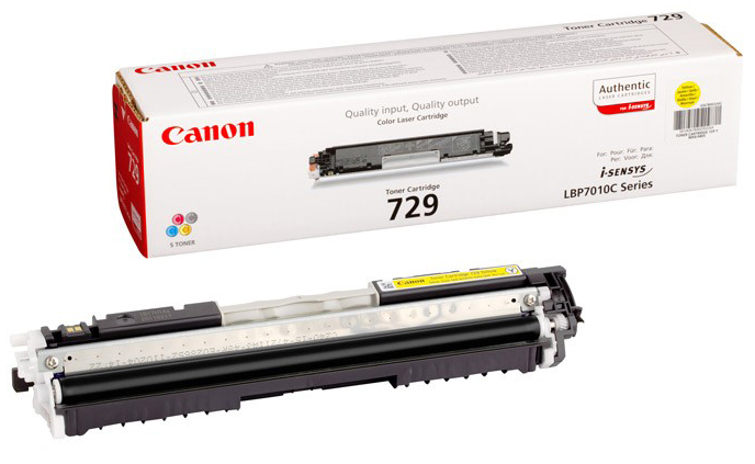 Genuine Canon 729Y Yellow Toner Cartridge (4367B002AA)