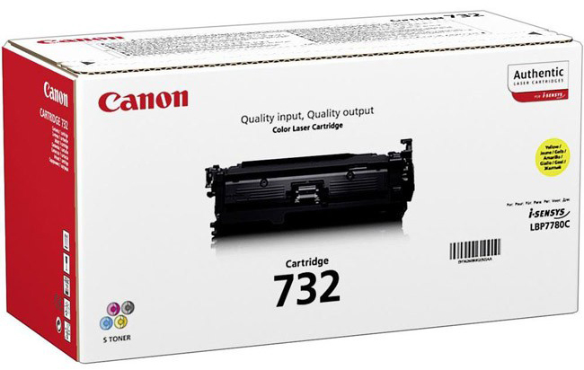 Genuine Canon 732Y Yellow Toner Cartridge (6260B002)