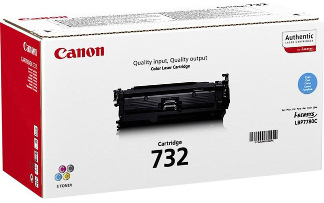 Genuine Canon 732C Cyan Toner Cartridge (6262B002)