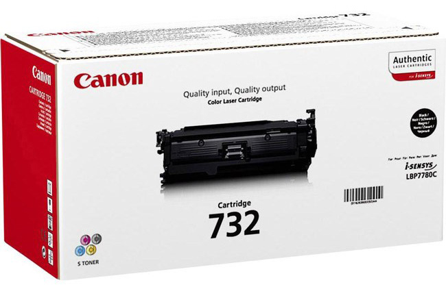 Genuine Canon 732BK Black Toner Cartridge (6263B002)