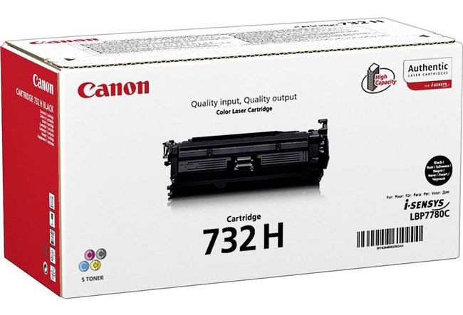 Genuine Canon 732H Black High Capacity Toner Cartridge (6264B002)