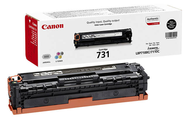 Genuine Canon 731BK Black Toner Cartridge (6272B002)