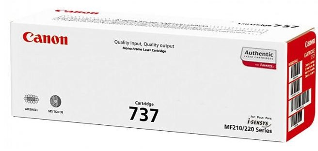 Genuine Canon 737 Black Toner Cartridge (9435B002)
