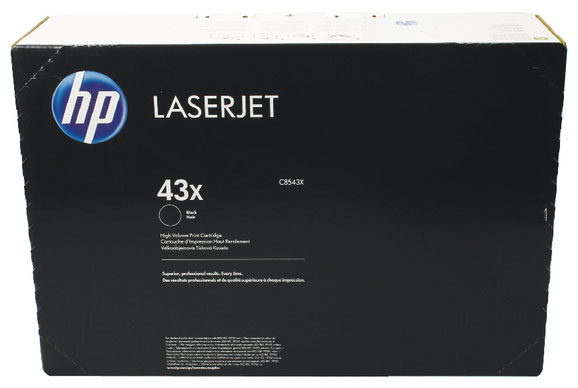 Genuine HP C8543X (#43X) Black Toner Cartridge (HPC8543XBKOEM)