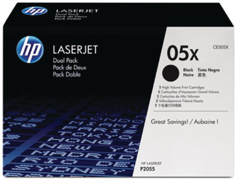 Genuine HP CE505X (#05X) Black Toner Cartridge (HPCE505XBKOEM)