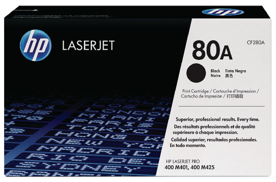 Genuine HP CF280A (#80A) Black Toner Cartridge (HPCF280ABKOEM)