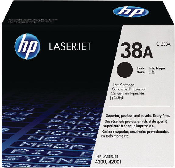 Genuine HP Q1338A (#38A) Black Toner Cartridge (HPQ1338ABKOEM)