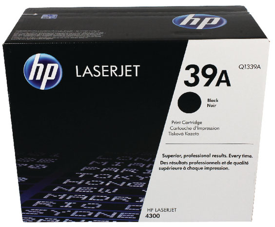 Genuine HP Q1339A (#39A) Black Toner Cartridge (HPQ1339ABKOEM)