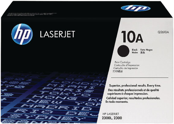 Genuine HP Q2610A (#10A) Black Toner Cartridge (HPQ2610ABKOEM)