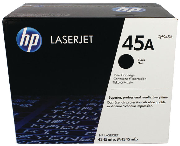 Genuine HP Q5945A (#45A) Black Toner Cartridge (HPQ5945ABKOEM)