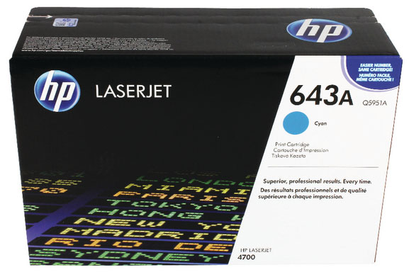 Genuine HP Q5951A (#643A) Cyan Toner Cartridge (HPQ5951ACOEM)