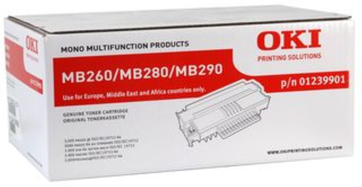 Genuine Oki (OK01239901) Black Toner Cartridge (1239901)