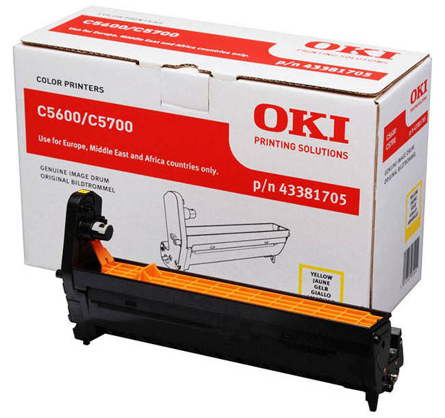 Genuine Oki (OK43381705) Yellow Imaging Drum Unit (43381705)