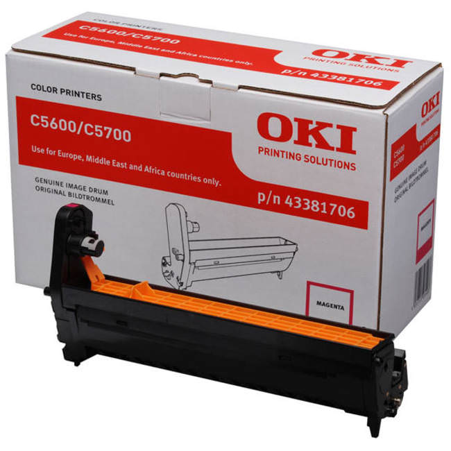 Genuine Oki (OK43381706) Magenta Imaging Drum Unit (43381706)