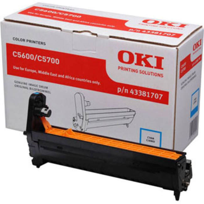 Genuine Oki (OK43381707) Cyan Imaging Drum Unit (43381707)