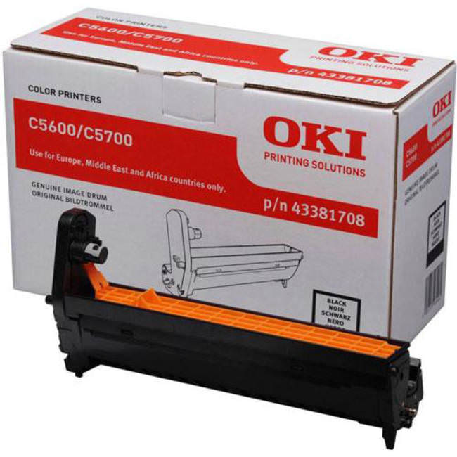Genuine Oki (OK43381708) Black Imaging Drum Unit (43381708)