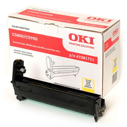 Genuine Oki (OK43381721) Yellow Imaging Drum Unit(43381721)