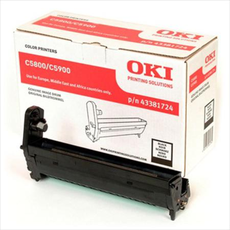 Genuine Oki (OK43381724) Black Imaging Drum Unit(43381724)