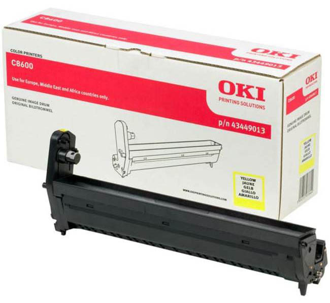 Genuine Oki (OK43449013) Yellow Imaging Drum Unit (43449013)
