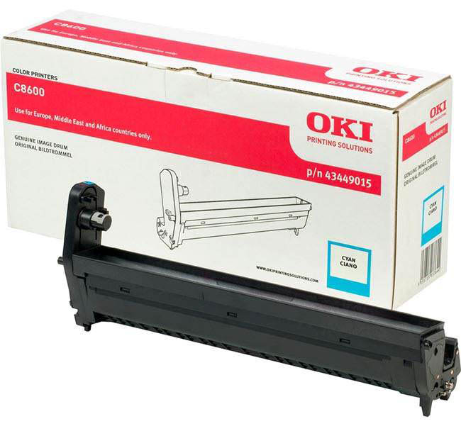 Genuine Oki (OK43449015) Cyan Imaging Drum Unit (43449015)