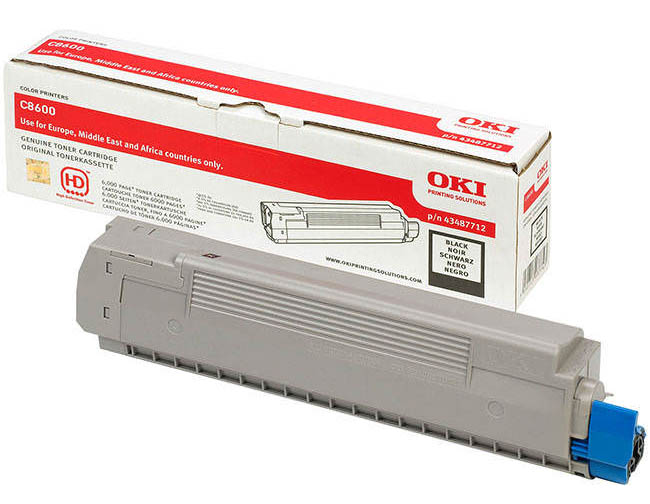 Genuine Oki (OK43487712) Black Toner Cartridge (43487712)