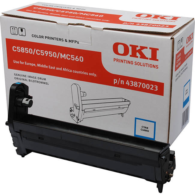 Genuine Oki (OK43870023) Cyan Image Drum (43870023)