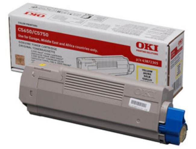 Genuine Oki (OK43872305) Yellow Toner Cartridge (43872305)