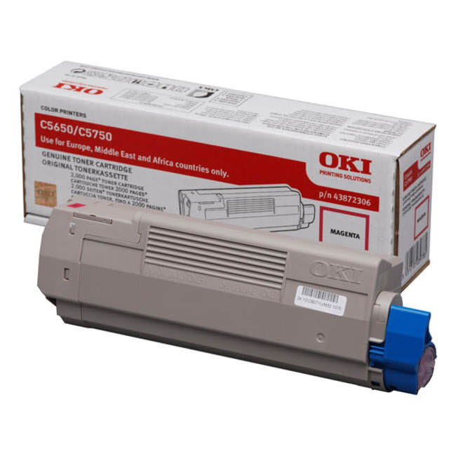 Genuine Oki (OK43872306) Magenta Toner Cartridge (43872306)