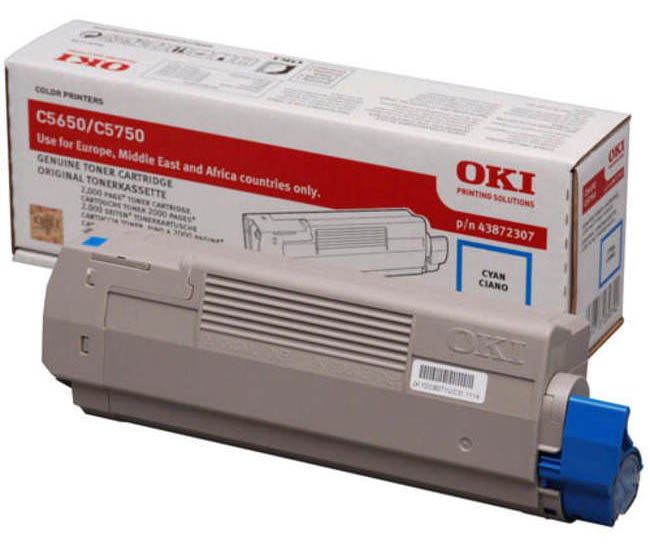 Genuine Oki (OK43872307) Cyan Toner Cartridge (43872307)