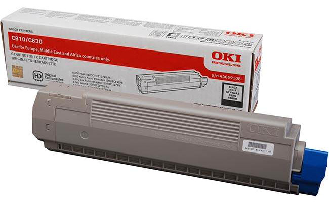 Genuine Oki (OK44059108) Black Toner Cartridge (44059108)