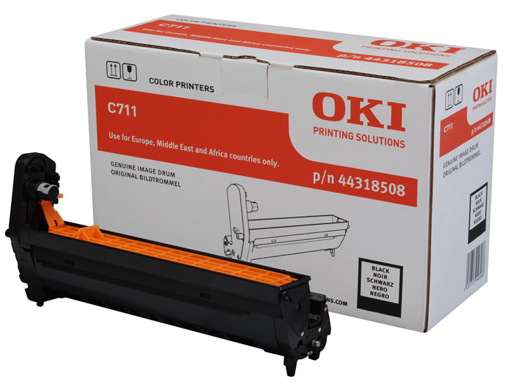 Genuine Oki (OK44318508) Black Image Drum (44318508)